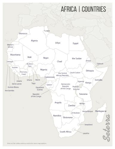 Africa Countries Printables Map Quiz