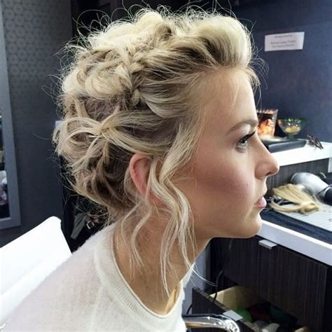 braid ball hairstyles voluminous updo with mini crown braid the cutest braided