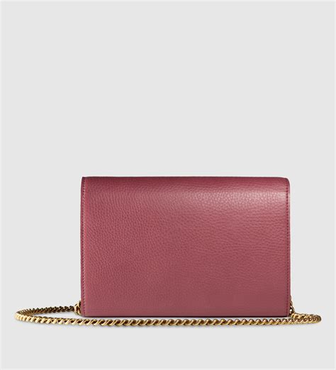 Gucci Marmont Wallet On Chain lyst gucci gg marmont leather chain wallet in purple