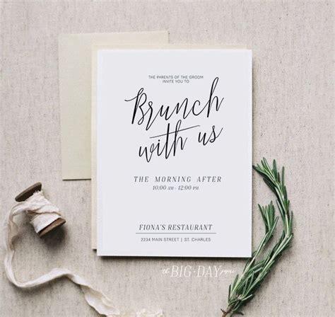 after wedding brunch invitations brunch with us printable morning after brunch invitation digital file bridal brunch
