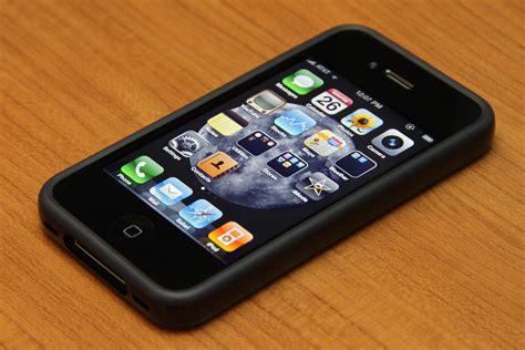 Apple 4 32gb iphone 4 32gb black bumper black front photo page