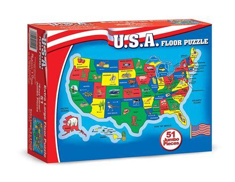 amazoncom melissa doug usa map  pcs floor puzzle