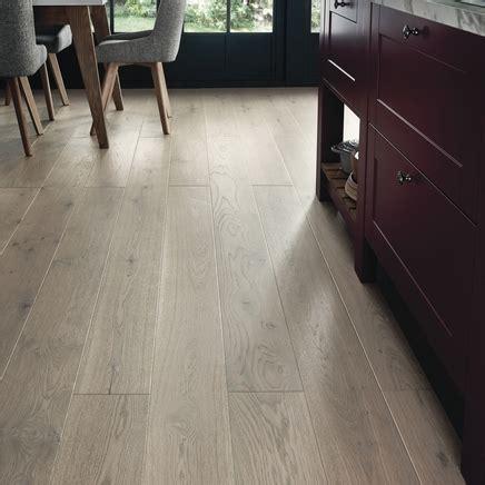 Pre Finished Fast Fit Light Grey Oak Flooring   Howdens