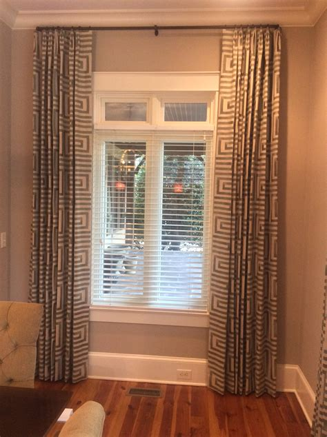 Window Covering For Front Door Front Door Fabrics And Interiors Front Door Files Window Treatments Geometric Embroidered Drapes