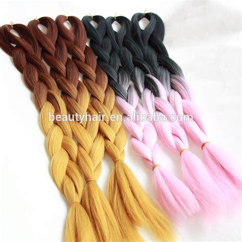 ombre kanekalon braiding hair hot selling ombre kanekalon braiding hair 3pcs braiding