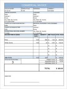 10 commercial invoice templates download free documents