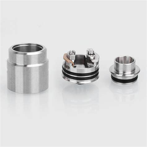 Ithaka Rda Rebuildable Atomizer Silver entheon style bf rda silver 22mm atomizer kit w pei top cap