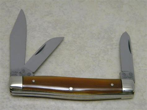 Solingen Tang Profesional 2 buck creek indian solingen germany celluloid 3 blade stockman knife
