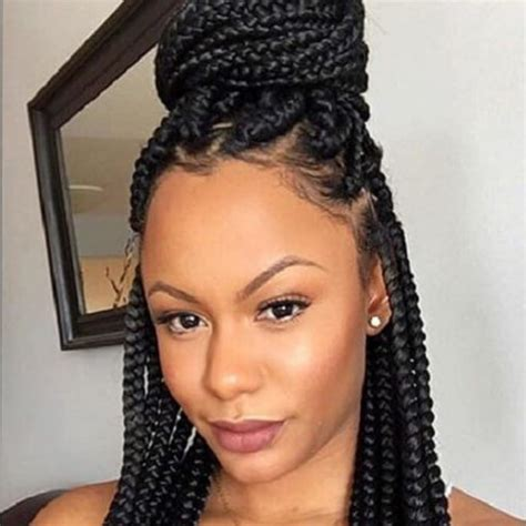 hair colors for box goddess braids goddess braids with box braids pertaining to encourage