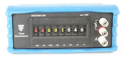 decade resistance box calibration procedure 1040 resistance decade box precision decade box time electronics