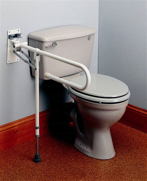 Toilet Handrails drop rail with adjustable leg bathroom aid