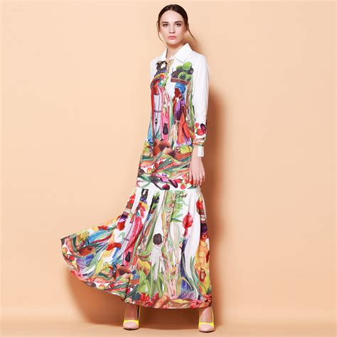 design dress collars high quality newest fashion runway turn down collar maxi