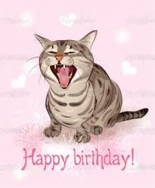 free happy birthday cat greetings happy birthday card cat sings greeting song pink