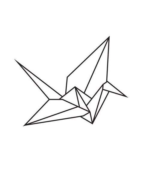 Origami Crane Drawing - paper crane outline www imgkid the image kid has it