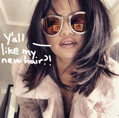 12 most popular hair instagram selena gomez chops it shows new hairdo