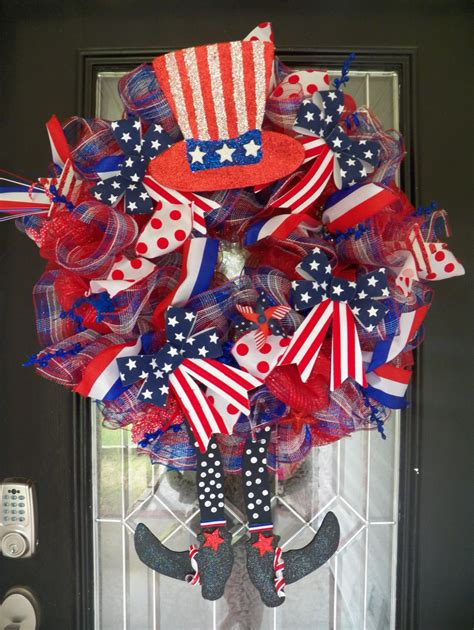 fourth of july wreath deco mesh wreath july by occasionsboutique