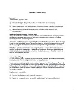 sample travel policy template 9 free documents download