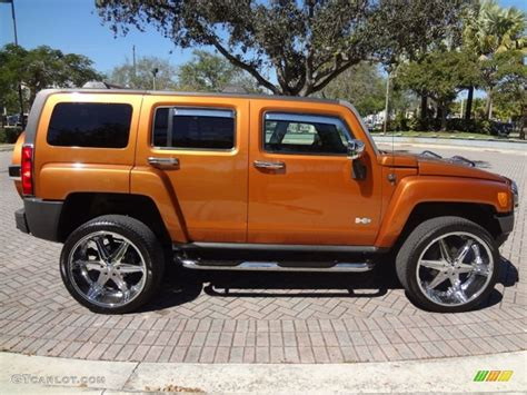 2007 desert orange metallic hummer h3 77961918 photo 4 gtcarlot car color galleries