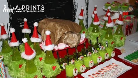 grinch christmas party props a grinch birthday dimple prints