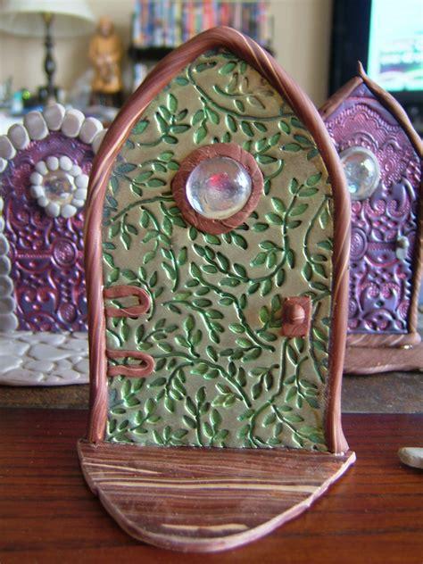 polymer clay fairy door     piece  doll