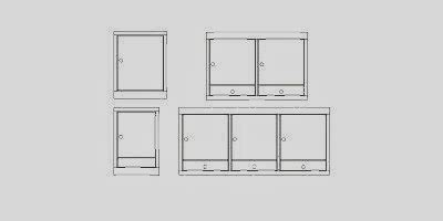 bloc autocad cuisine blocs de 12 types de meubles pour la cuisine fichier autocad