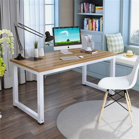 simple white writing desk tribesigns computer desk 47 quot office desk modern simple