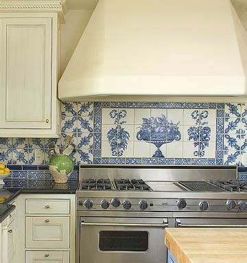 french blue and white ceramic tile backsplash 46 best blue white tiled kitchen images on pinterest