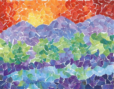 pattern for paper mosaic mosaics