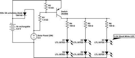 transistor not opening solar cell trouble with transistor switch 2n3906 electrical engineering stack exchange