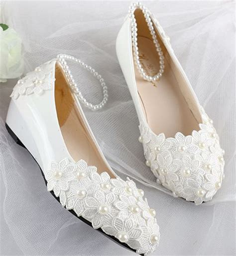White Wedge Bridal Shoes by Aliexpress Buy Wedding Shoes White Wedges Mid