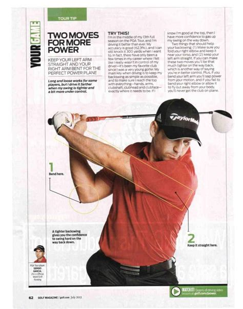 swing golf magazine golf magazine article straight arm for power swing by
