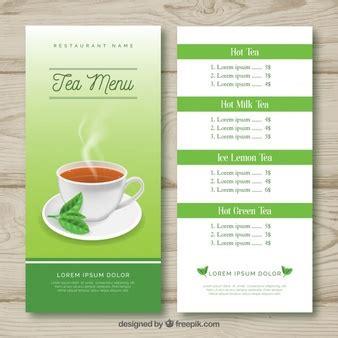 tea menu template tea vectors photos and psd files free