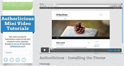 wordpress tutorial exles authorlicious wordpress template preview page 30 day books
