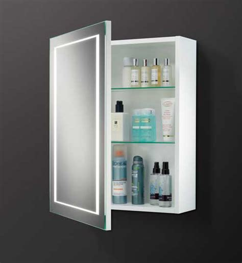 Bathroom Illuminated Mirror Cabinet | hib austin bathroom mirror cabinet 9101900 9101900