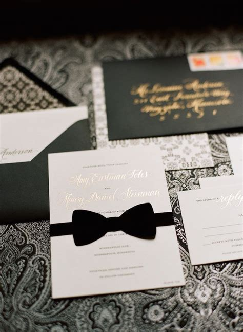 wedding themes black tie black tie wedding ideas that dazzle modwedding