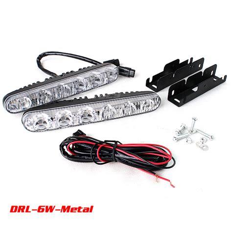 12v 6w led daytime running light waterproof universal drl
