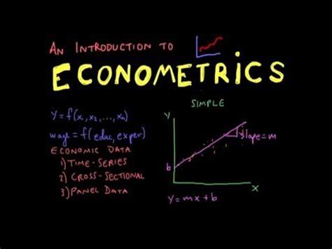 Econometrics 3 In 6 econometrics lecture 1 introduction
