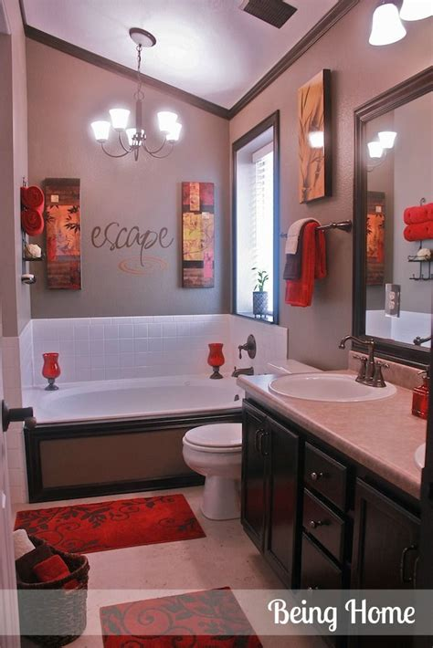 red bathroom ideas home design inside best 25 red bathroom decor ideas on pinterest black