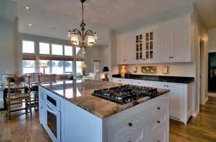 Custom kitchen island with range kitchen makeover complete