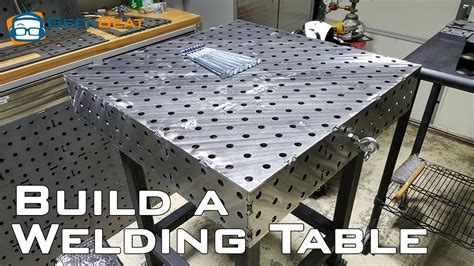 how to build a welding bench how to build a welding table youtube