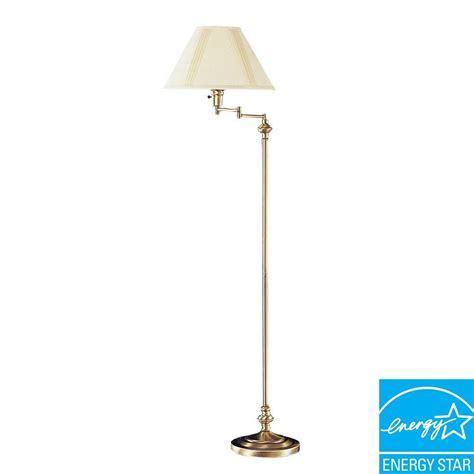 swing arm floor l antique brass hton bay 59 in oil rubbed bronze swing arm floor l