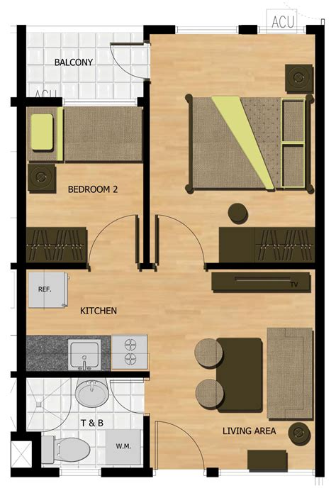 2 bedroom condo floor plans seawind mixed use condo development in davao by damosa