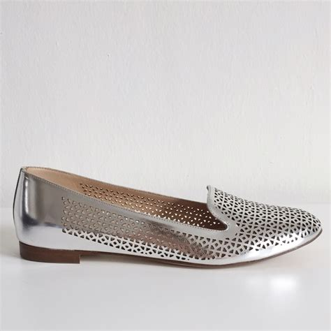 j crew silver loafers 17 j crew shoes j crew cleo perforated mirror