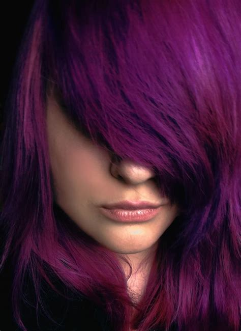 splat hair color without bleaching long bangs with splat lusty lavender hair color purple