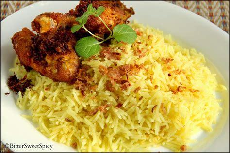 buat nasi kuning pakai rice cooker bittersweetspicy ayam goreng lengkuas nasi kuning