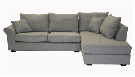 Sectional Sofa Grey Grey Fabric Contemporary Sectional Sofa