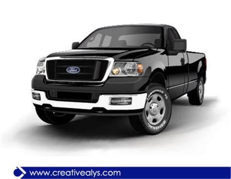 ford realistic black pickup truck, clipart clipart.me
