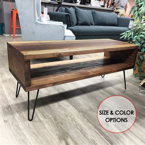 coffee table legs modern mid century modern coffee table w hairpin legs rustic coffee