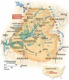 map of the colorado plateau geology zionnationalpark