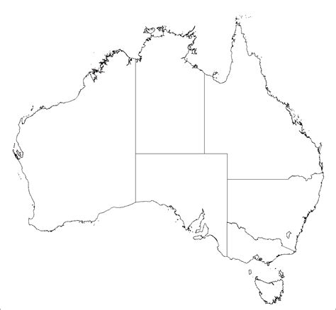 australia map template basic outline maps library